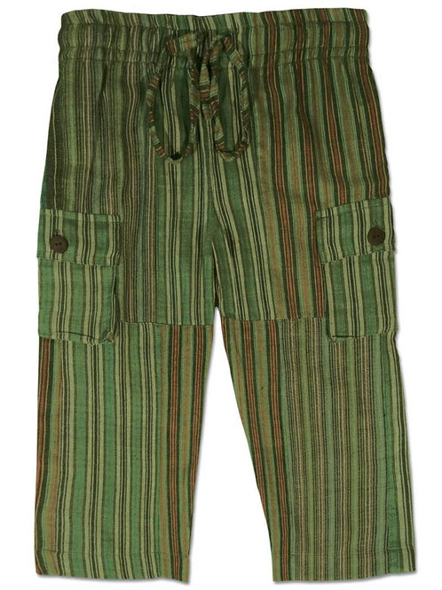 Kids Green Patchwork Day at the Beach Pants