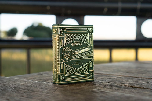 Monarch Green Playing Cards