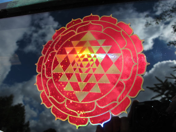 Sri Yantra Lotus Sticker