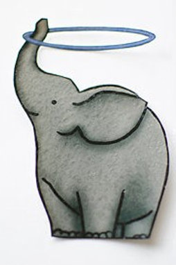 Trunk Hooping Elephant Sticker