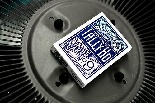 Blue Tally Ho Fan Back Playing Cards