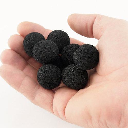 Mini Super Soft Black Sponge Balls (8-pack)