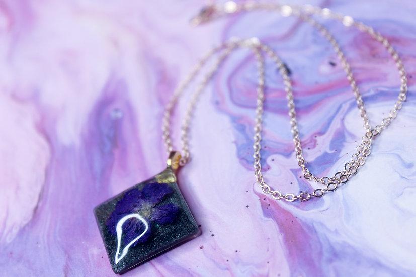 Pressed Violet Necklace