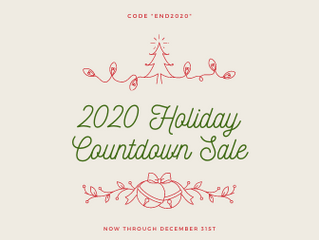 2020 Countdown Sale- 20% Off Everything for the Holidays