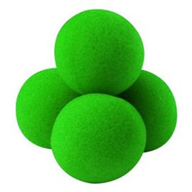 "1.5"" Ultra Soft high Density Green Sponge Balls (4-pack)"
