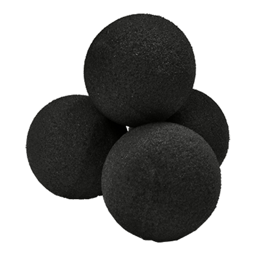 "3"" Super Soft Black Sponge Ball (4-pack)"
