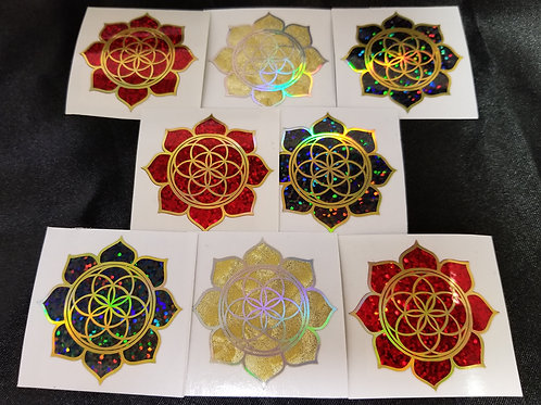 Special Edition Lotus Seed of Life Stickers- 2""