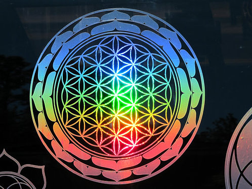 Lotus Flower of Life Sticker- 7.75""