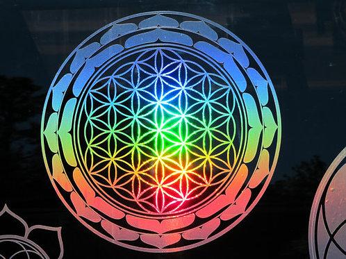 "Lotus Flower of Life Sticker- 7.75"""