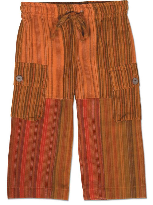 Kids Orange Patchwork Day at the Beach Pants