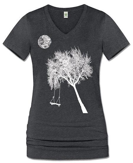 Moon Play V-Neck T-Shirt