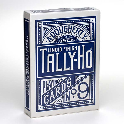 Blue Circle Back Tally Ho Playing Cards
