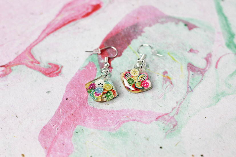 Kawaii Fruit Slice Earrings