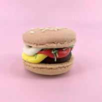Burger on pink