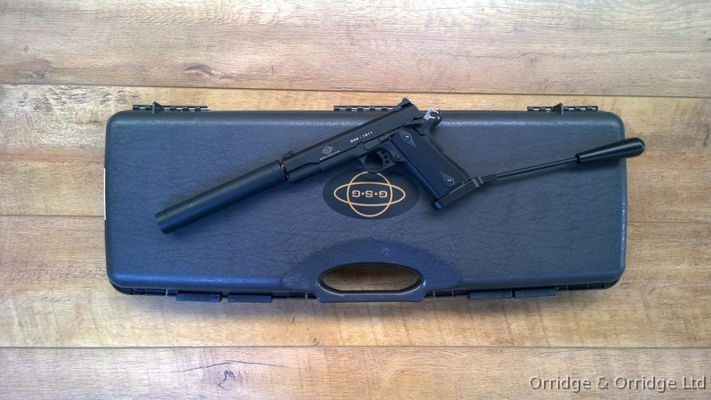 GSG 1911 .22 LR long barrelled pistol