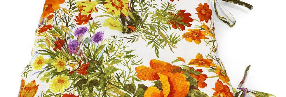 """Подушка на стул """"Primavera"""", оранжевый, 40х40 см"""