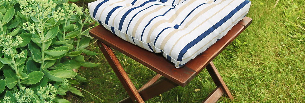 "Подушка на стул, ""Blue  Rain"",  40x40см."