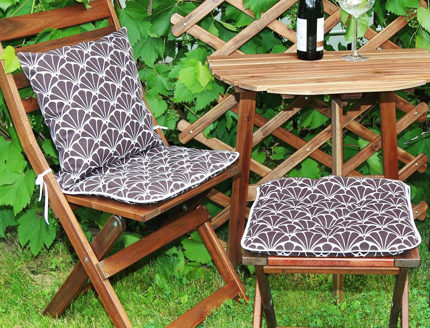 """Сидушка на стул,  """"Brown Garden"""",  40x40см."""