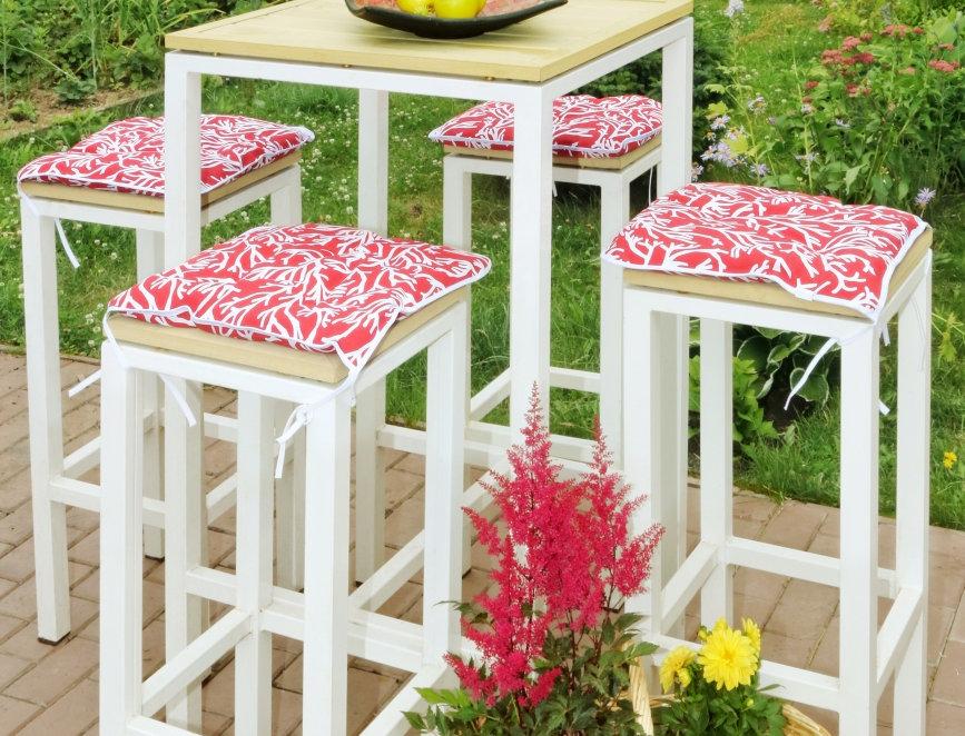 """Сидушка на стул,  """"Red Corals"""",  40x40см."""