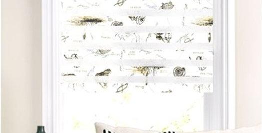 Мини-ролло День-ночь ассорти, серый рисунок