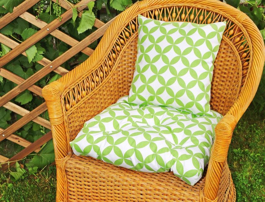 """Подушка на стул, """"Green Round - S"""",  50x50см."""