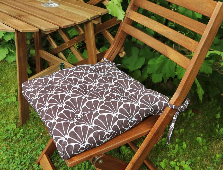 """Подушка на стул, """"Brown Garden"""",  40x40см."""