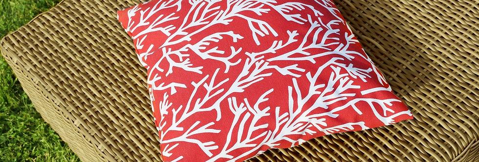 """Подушка декоративная, """"Red Corals"""", 40x40см."""