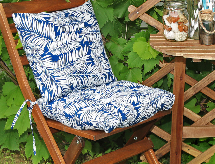 """Подушка на стул, """"Blue  Palma"""",  40x40см"""