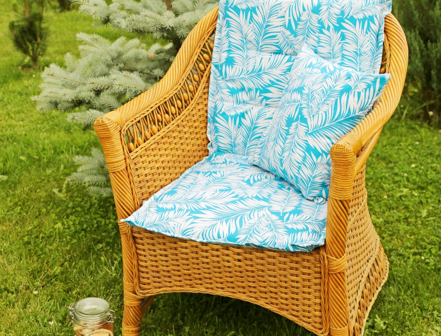 """Подушка на стул со спинкой, """"Sky  Palma"""",  50x100см."""