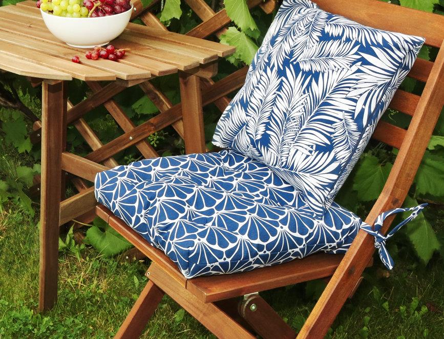 """Подушка на стул, """"Blue Garden"""",  40x40см."""