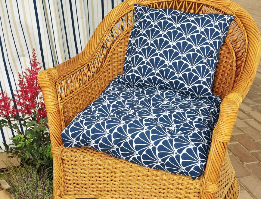 """Подушка на стул, """"Blue Garden - S"""",  50x50см."""