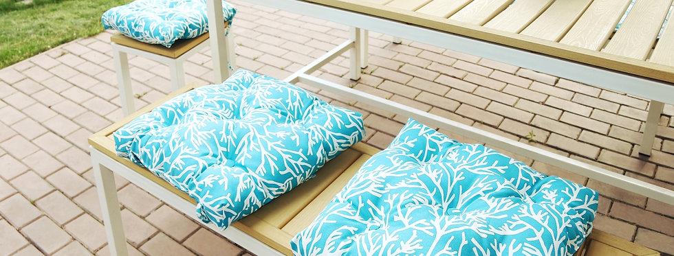 """Подушка на стул, """"Sky Corals - S"""",  50x50см."""