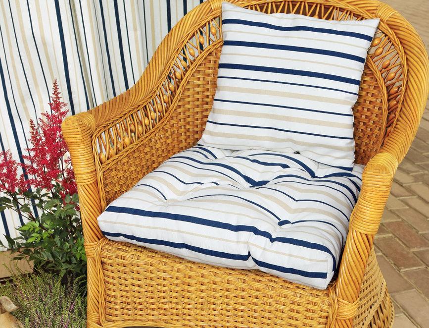 "Подушка на стул, ""Blue  Rain - S"", 50x50см."