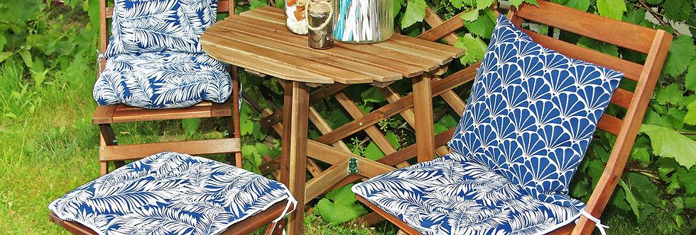 """Сидушка на стул,  """"Blue  Palma"""",  40x40см."""