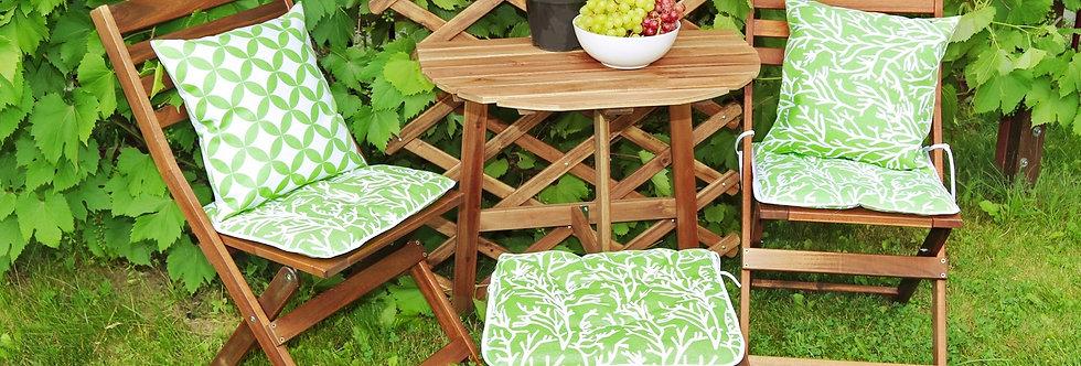 """Сидушка на стул,  """"Green Corals"""",  40x40см."""