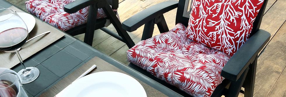 """Подушка на стул, """"Red Palma - S"""",  50x50см."""
