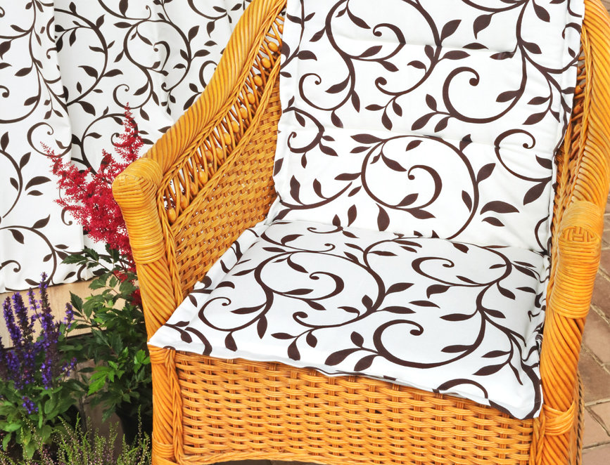 "Подушка на стул со спинкой, ""Bindweed"",  50x100см."