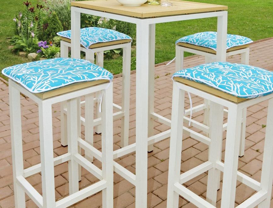 """Сидушка на стул,  """"Sky Corals"""",  40x40см."""