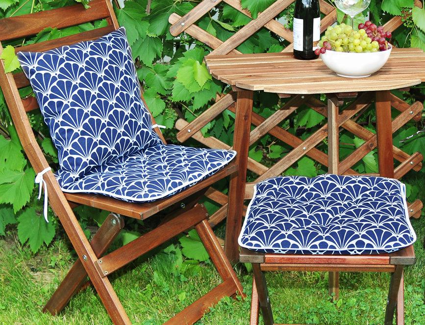 """Сидушка на стул,  """"Blue Garden"""",  40x40см."""
