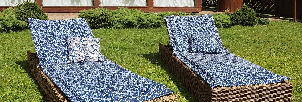 "Подушка на шезлонг, ""Blue Garden"", 60x190см."