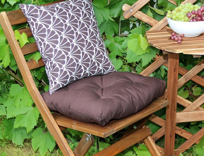 """Подушка на стул, """"Brown"""",  40x40см."""