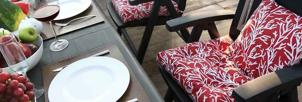 """Подушка на стул, """"Red Corals - S"""",  50x50см."""