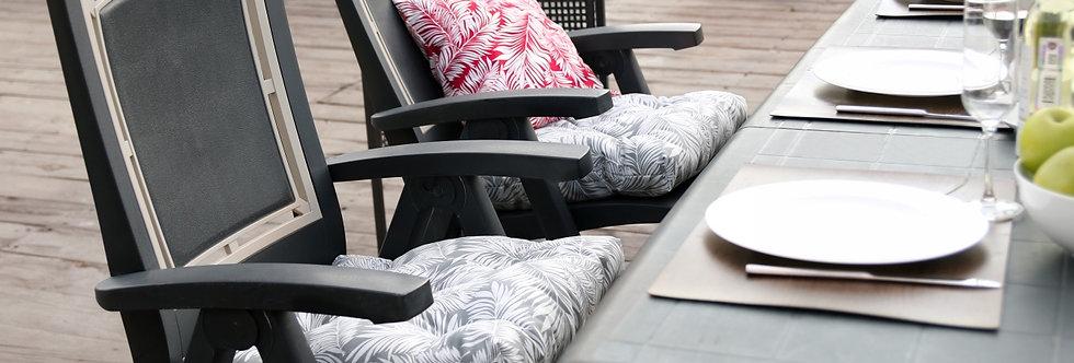 "Подушка на стул, ""Grey  Palma - S"",  50x50см."