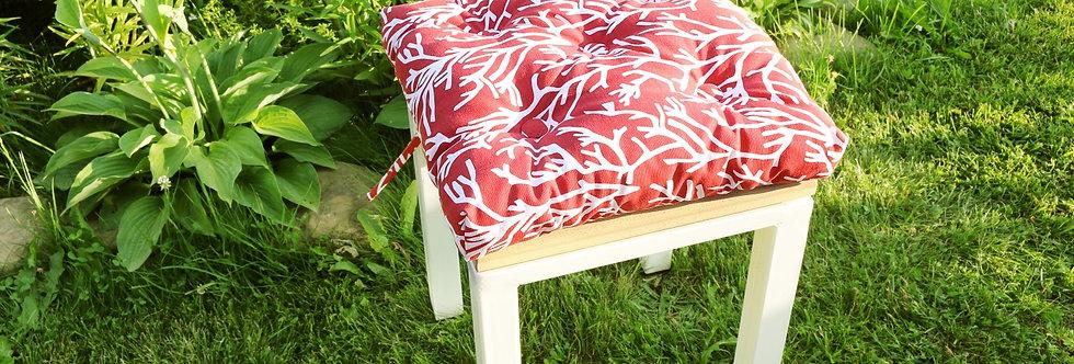 """Подушка на стул, """"Red Corals"""",  40x40см."""