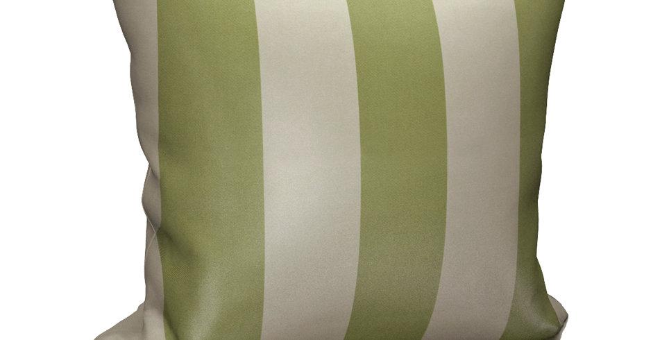 """Подушка """"Blackout"""",  Нежно-оливковый, с зеленой полосой, 40х40"""