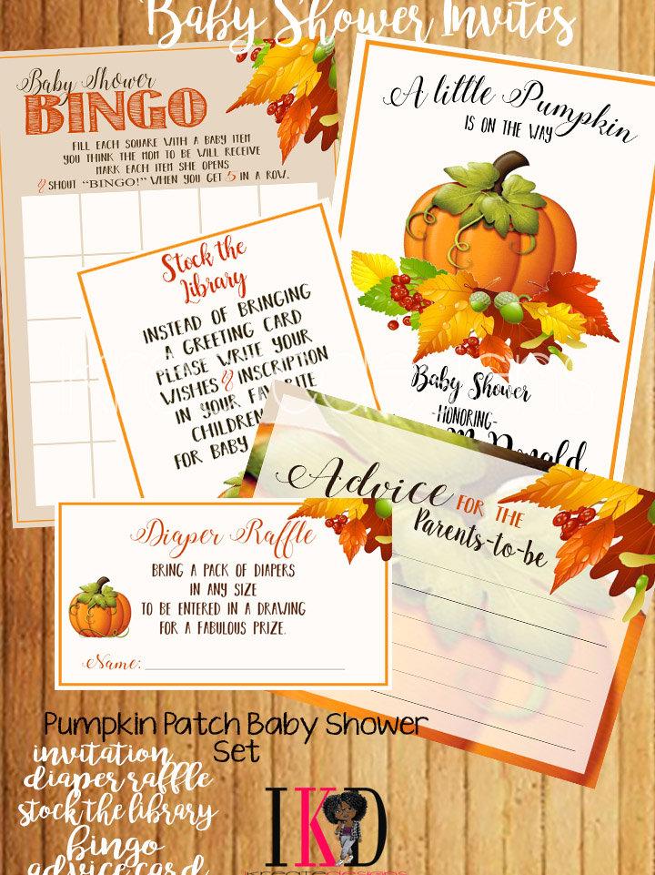 Pumpkin Patch - Baby Shower Invitation (Set)
