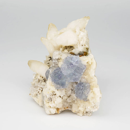 FLUORITE AND CALCITE SHANG BAO - 8 x 8 x 4,5 cm
