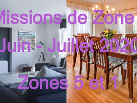 Zones : Missions semaine 27 - Zones 5 et 1