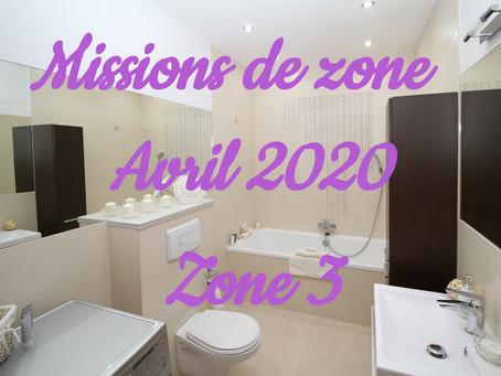 Zones : Missions semaine 16 - Zone 3
