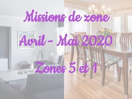 Zones : Missions semaine 18 - Zones 5 et 1